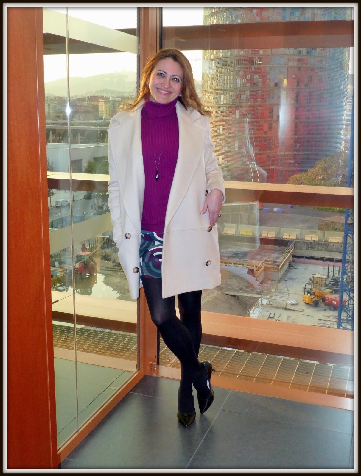 Abrigo color marfil