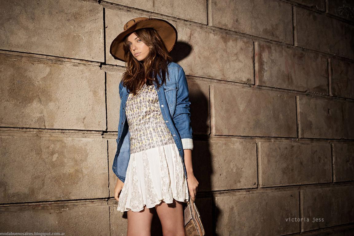 Camisas de jeans invierno 2015 Victoria Jess otoño invierno 2015. Moda otoño invierno 2015.