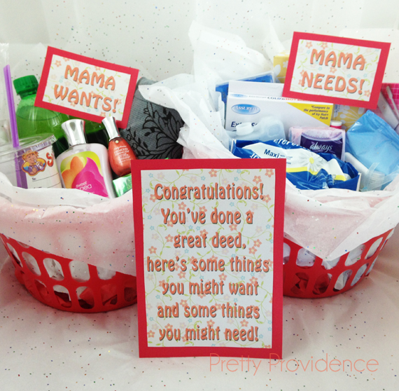 Baby Gifts For New Moms : New mom gift idea with free printables pretty providence