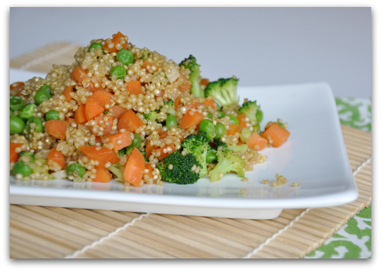 easy quinoa fried rice