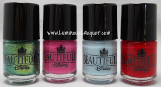 LuminousLacquer.com - Beautifully Disney Nail Polish - Wickedly Beautiful Princess Collection
