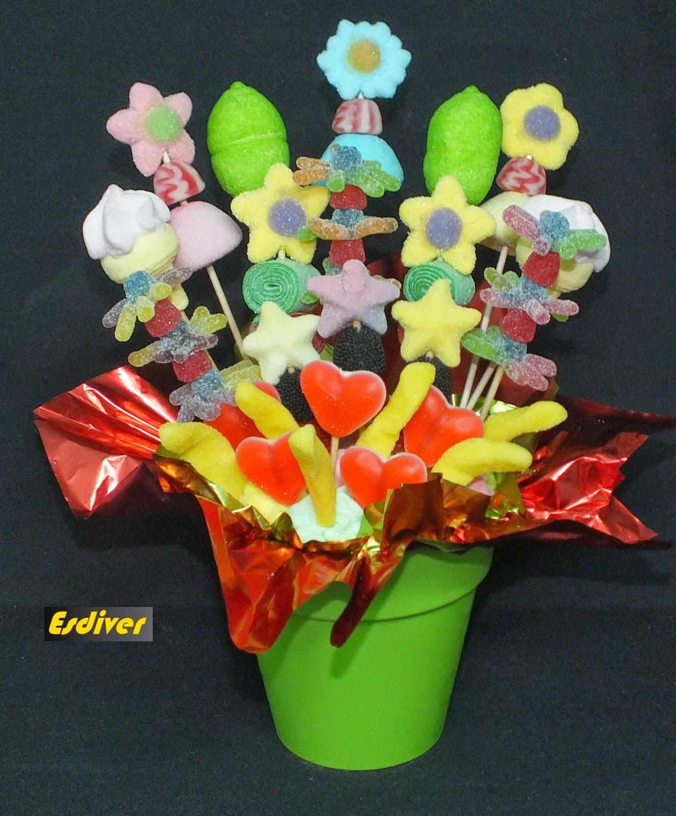 Flores de chuches tiesto primaveral
