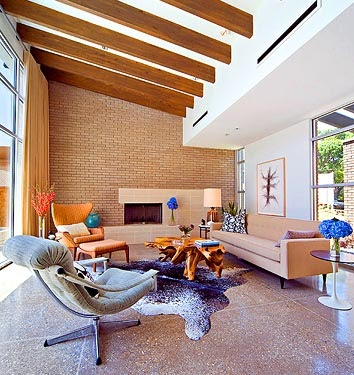 Mid century modern living room design home interior designs Inspiration for designing a mid century modern living room