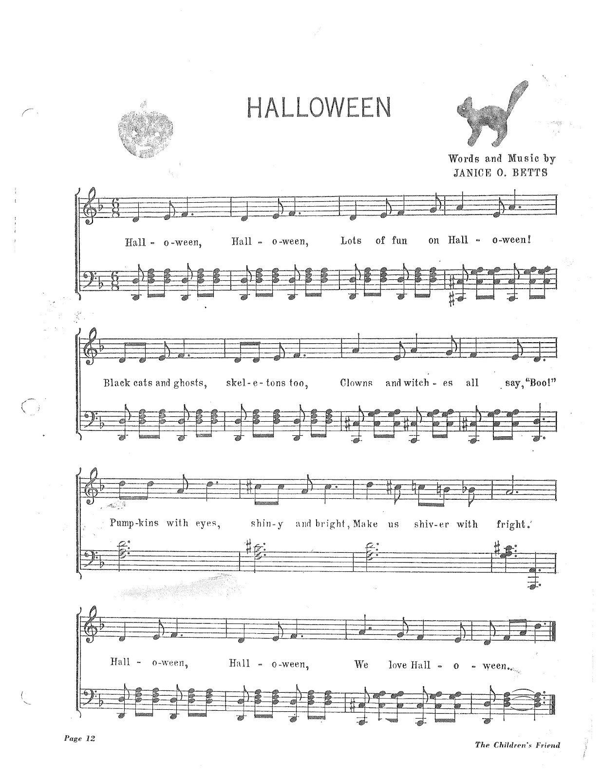Primary Singing Time: Due to overwhelming request: Halloween Songs