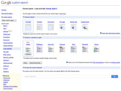 Google Custom Search Pada Search Box Blog 3