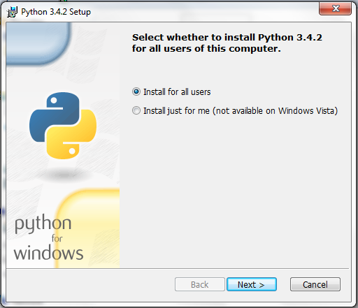 Pemilihan Pengguna Python