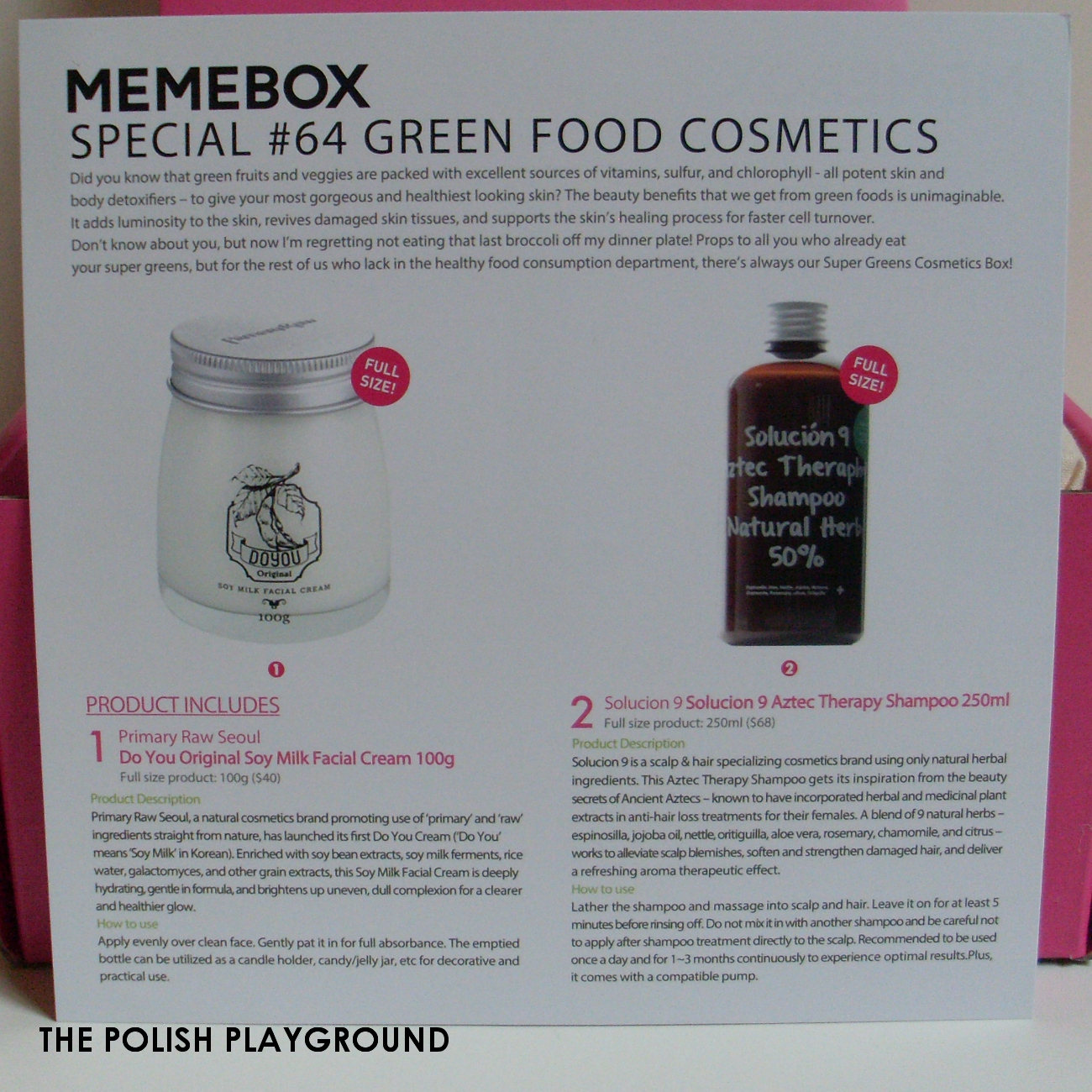 Memebox Special #64 Green Food Cosmetics Unboxing