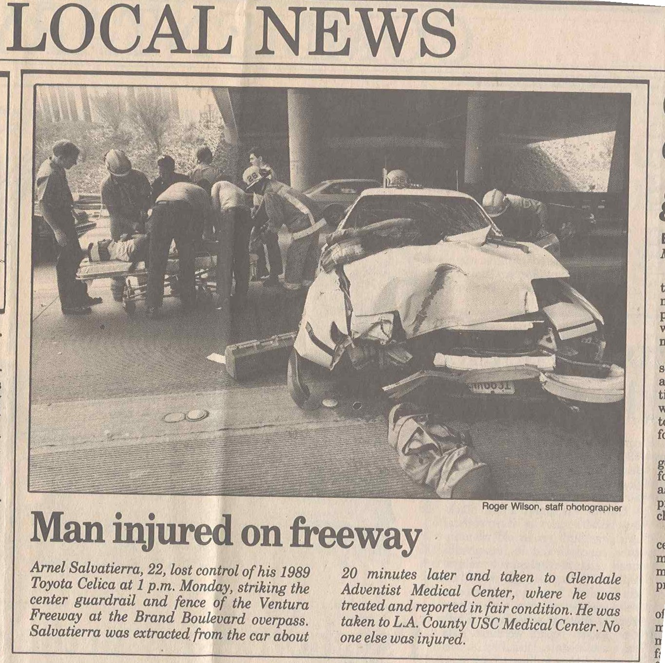 Car Accident Car Accident Newspaper Reports