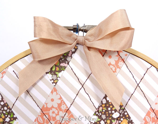 Seam binding double bow | popperandmimi.com