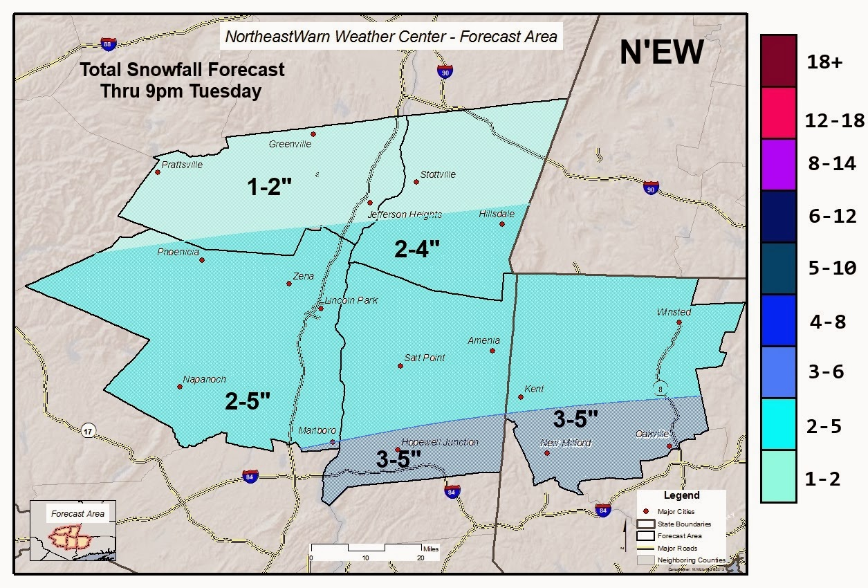 Snow Day Forecast Map