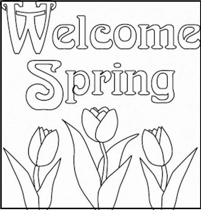 Holiday And Seasonal Coloring Pages Spring Day Moment Coloring Pages