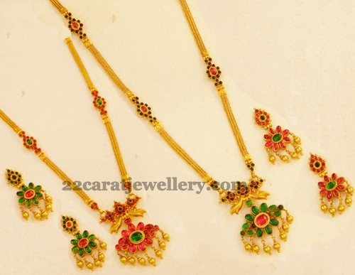 Double Sided Long Chains Jewellery Designs