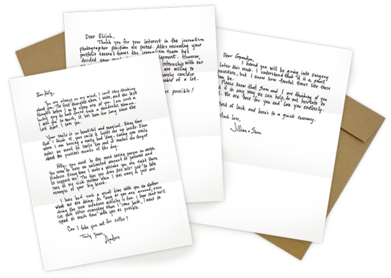 Handiemail is a pretty cool service that will turn your email into a real handwritten letter