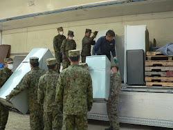 Entrega  dos donativos com apoio da CHIKUMA TRANSPORT..dia 29 de Abril, 2011
