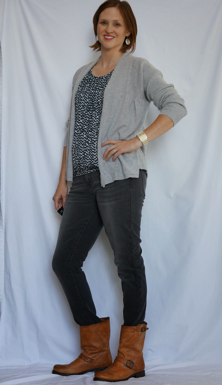 My Capsule Wardrobe: Outfit 22/91: Puffy Shirt, Grey Cardigan ...