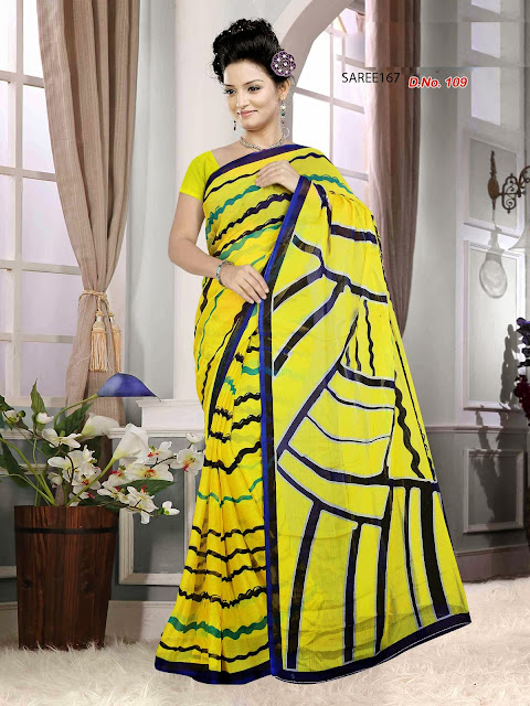 Buy Fancy Designer Chiffon Printed Saree Online Shopping