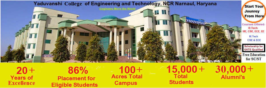 Yaduvanshi College of Engineering and Technology, NCR Narnaul Haryana | Top Engineering College