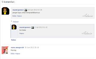 Komentar Blog Seperti Facebook