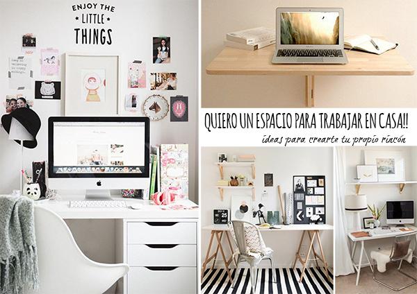 5 + 5  ideas para crea tu propio espacio para trabajar en casa