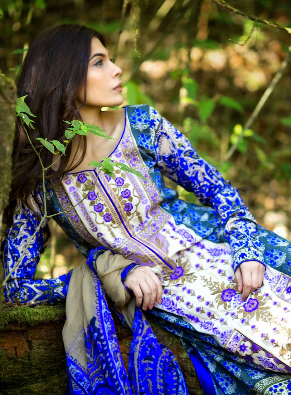 Sana safinaz prints lawn collection 2015