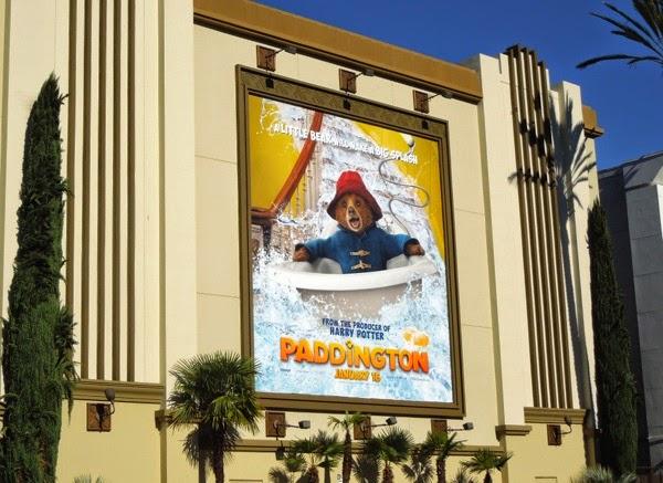 Paddington Bear movie billboard