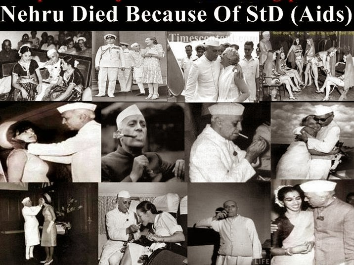 Nehru died because of std (sexually trasmitted disease)