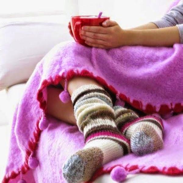 Domov a teplé ponožky
