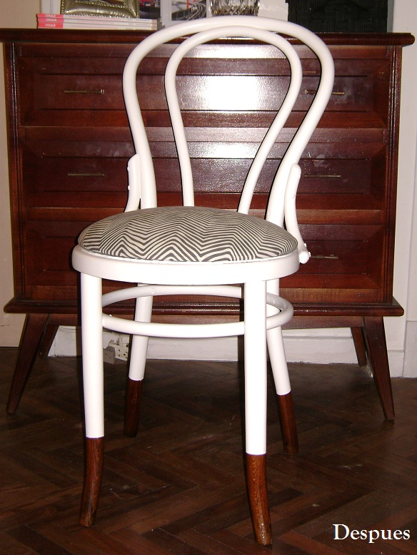 Sneak peek 2 new ideas antes y despues mi silla thonet - Tapizado de sillas antiguas ...