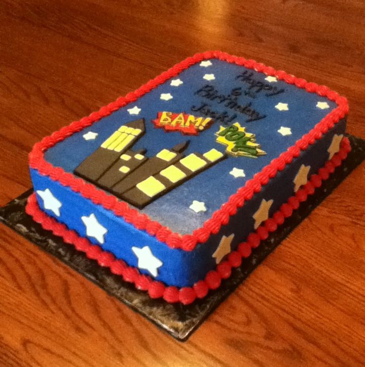 Bellissimo Specialty Cakes DC Comics Birthday Cake Cupcakes
