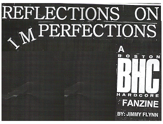 REFLECTIONS ON IMPERFECTIONS FANZINE