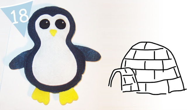 Felt Penguin Plush