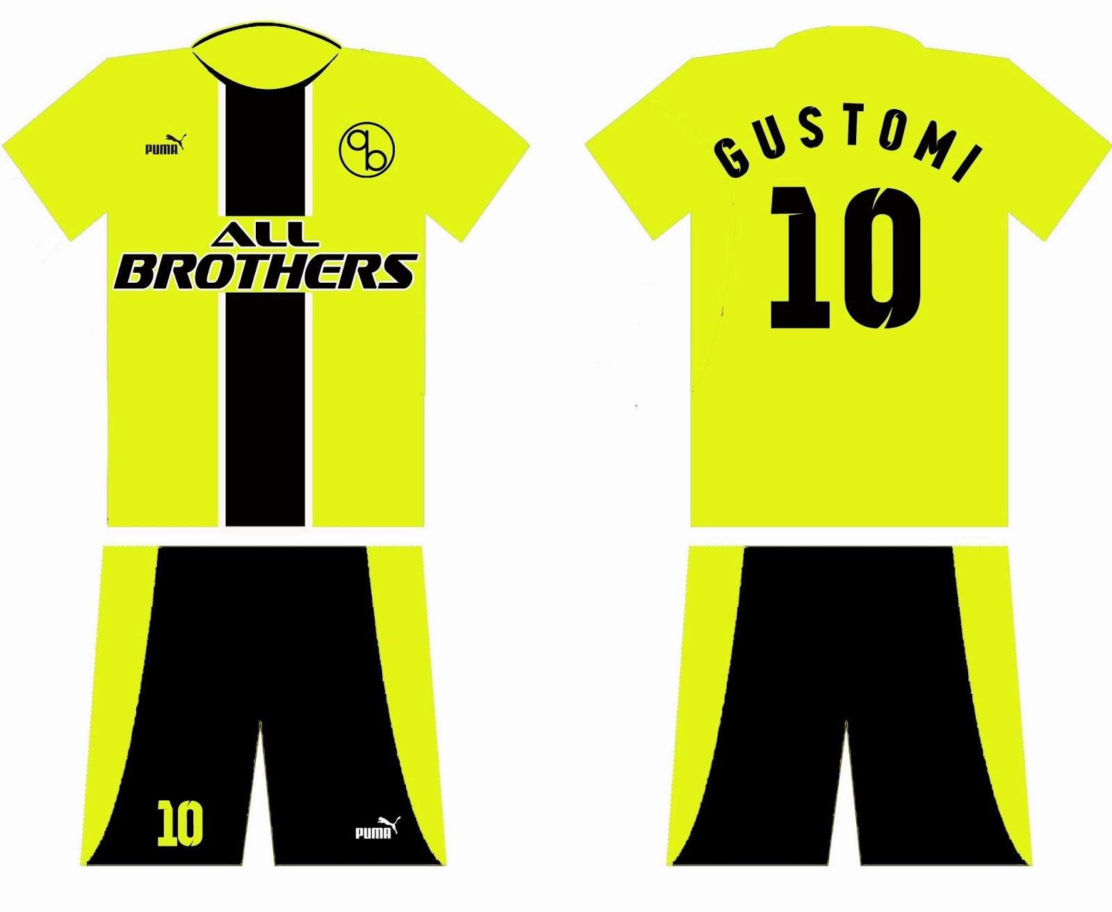 Desain Kostum Bola All Brothers FC