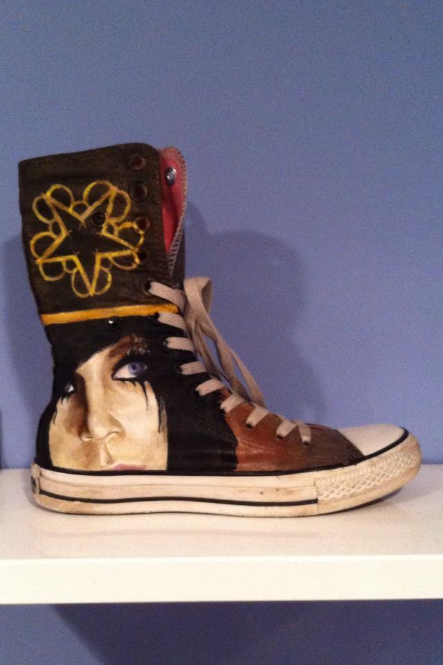 get your kicks on handpainted shoes black veil brides
