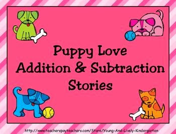 http://www.teacherspayteachers.com/Product/Puppy-Love-Addition-and-Subtraction-Stories-For-Promethean-Board-176724