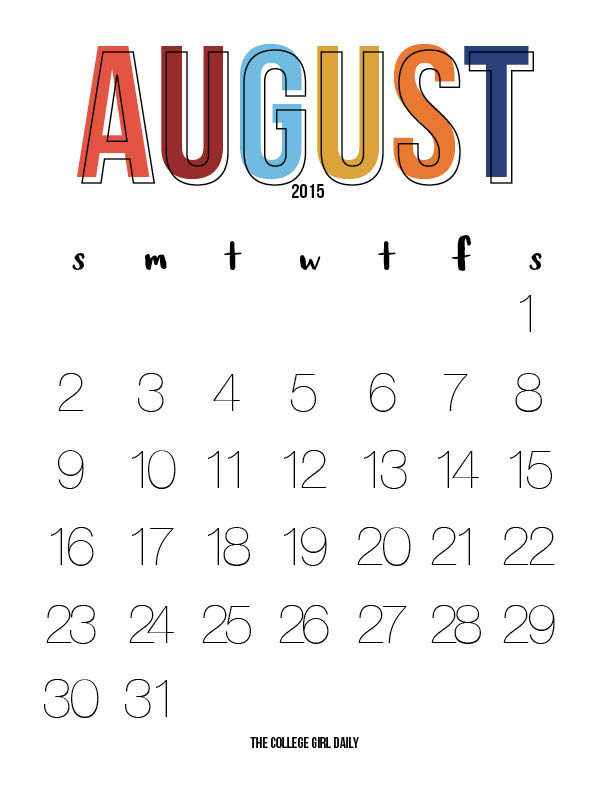 august, free, download, downloadable, planner, organization, calendar, back to school, fall,