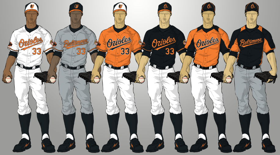 Diamond-Uniforms: Baltimore ORIOLES 2012 Uniform set