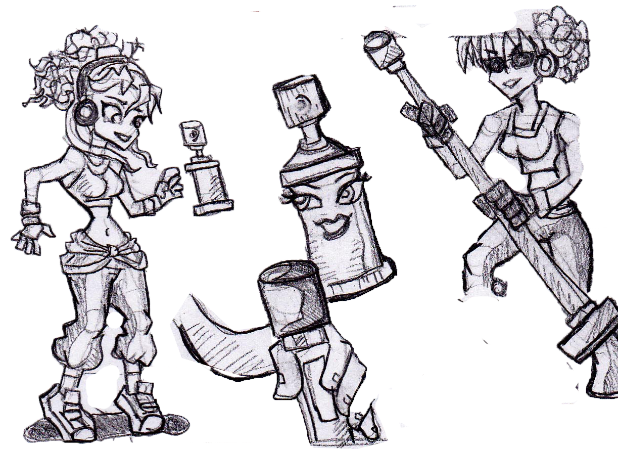 The Alpha Burners Ruff Sketch Of Princess Character Pg 2wo