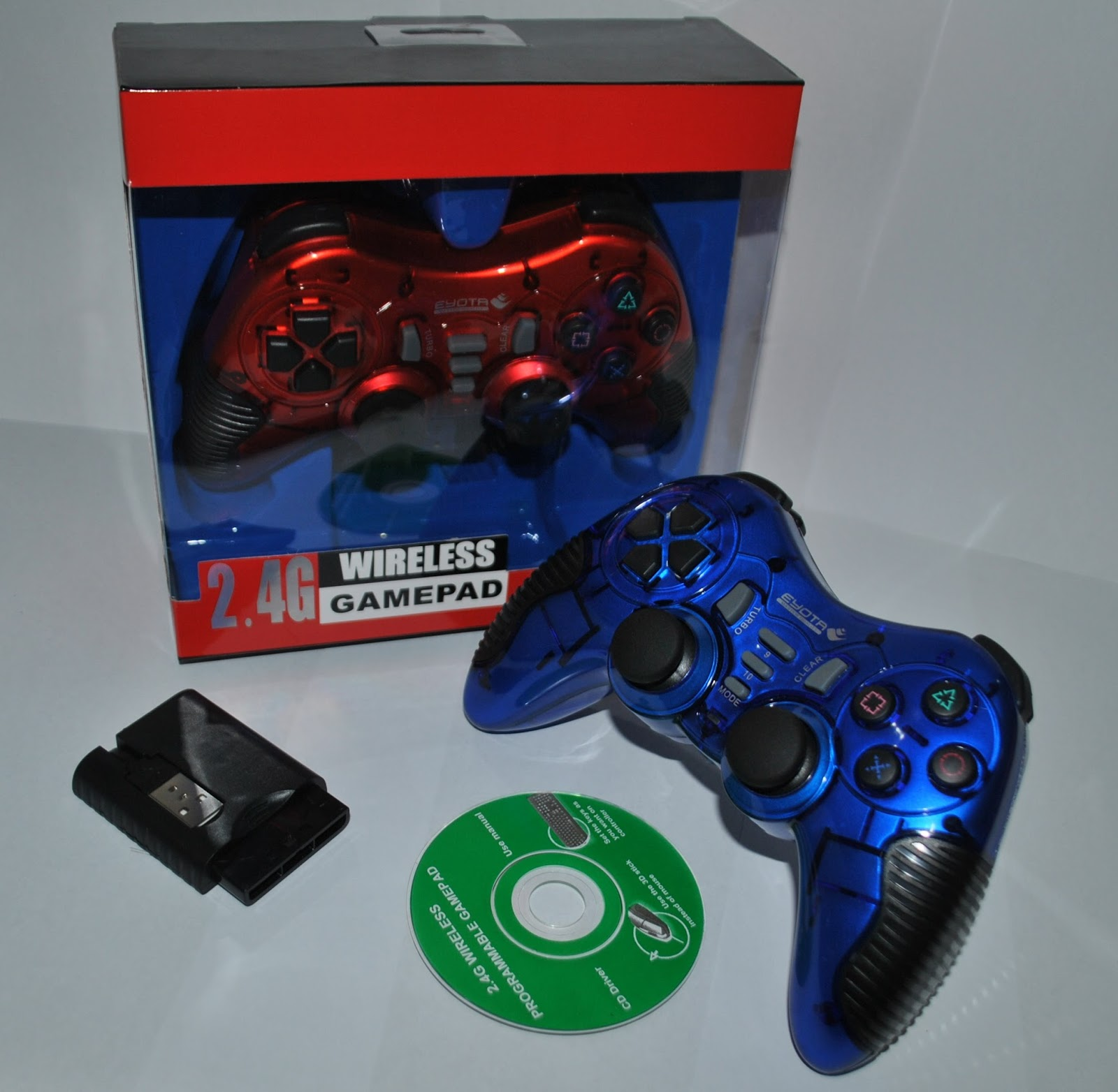 Gamepad single ar Sony Color PS2