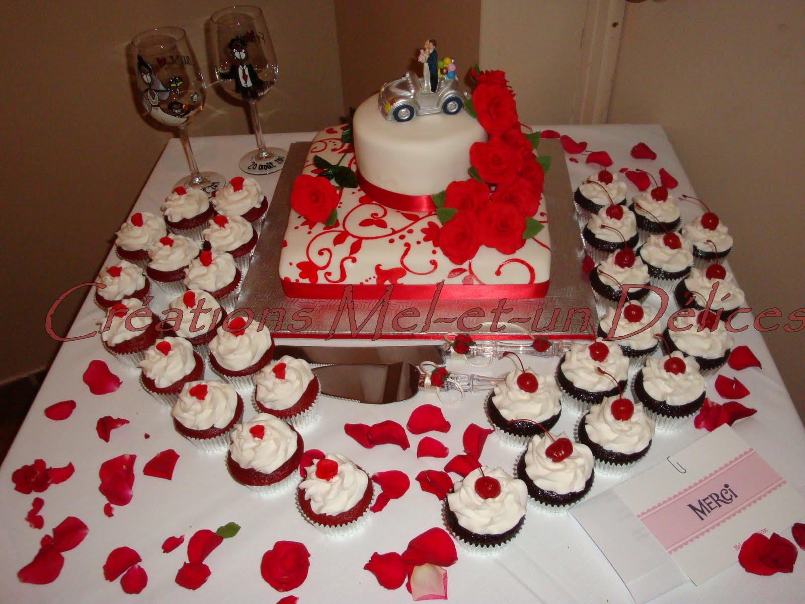 Mel-et-un Délices: Montage de la table de mariage - Roses rouges ...