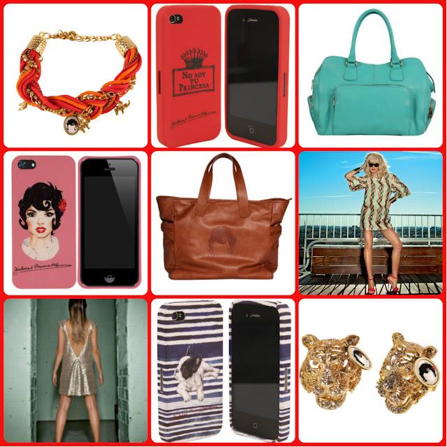 bolsos, fundas de móvil, anillos, pendientes