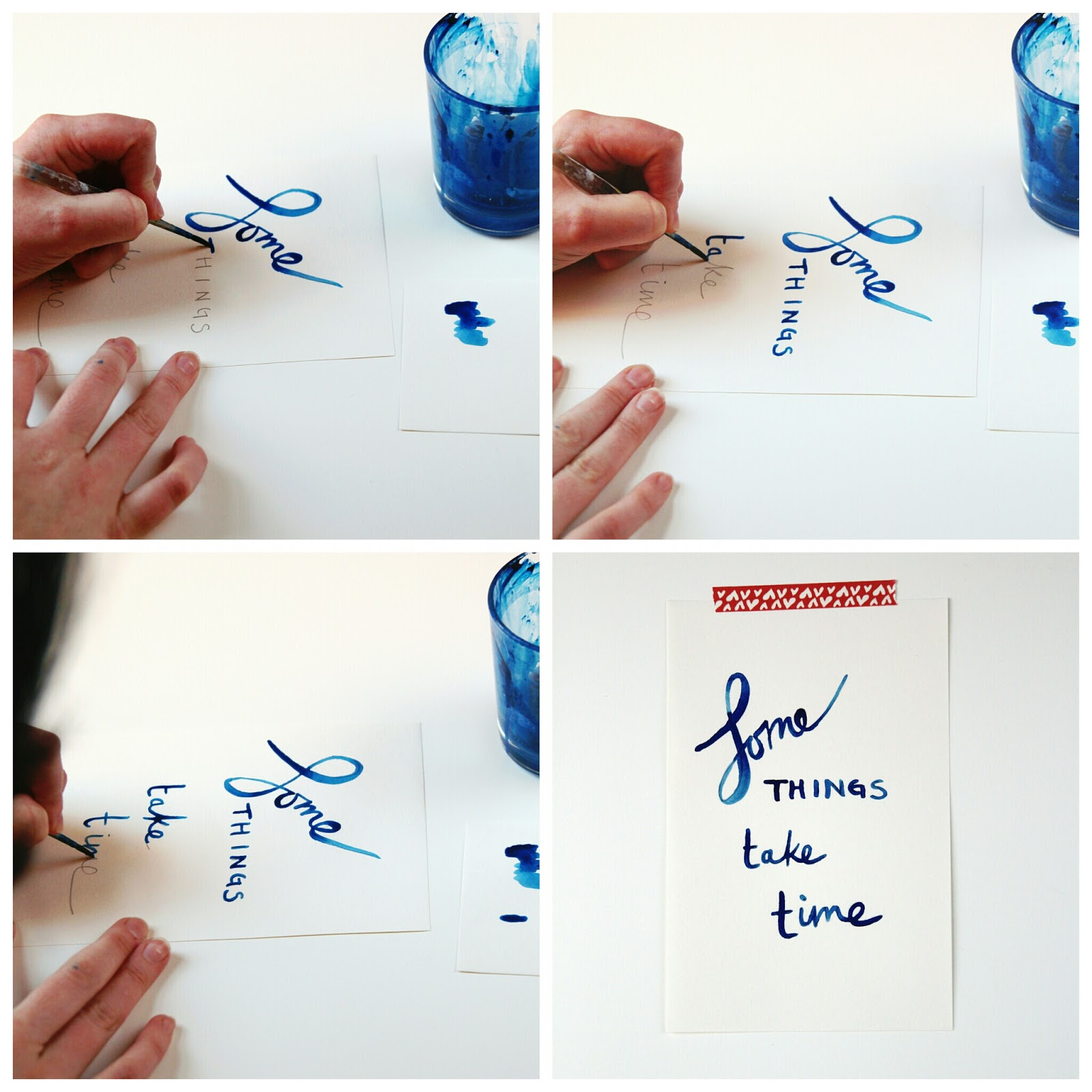 Creating hand drawn watercolour lettering