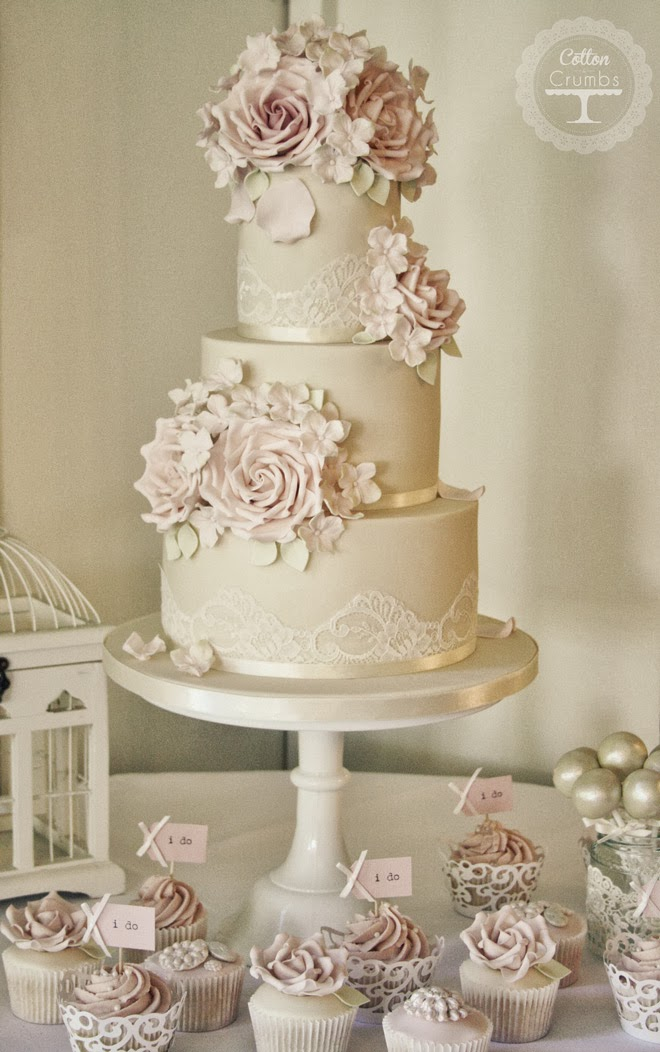 Gorgeous Lace Wedding Cakes - Belle The Magazine