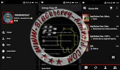 BBM Mod New V2.9.0.45 Themes BlackChat Mini Apk