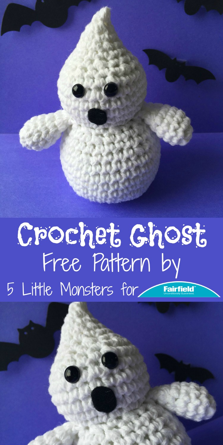 5 Little Monsters Crocheted Ghost