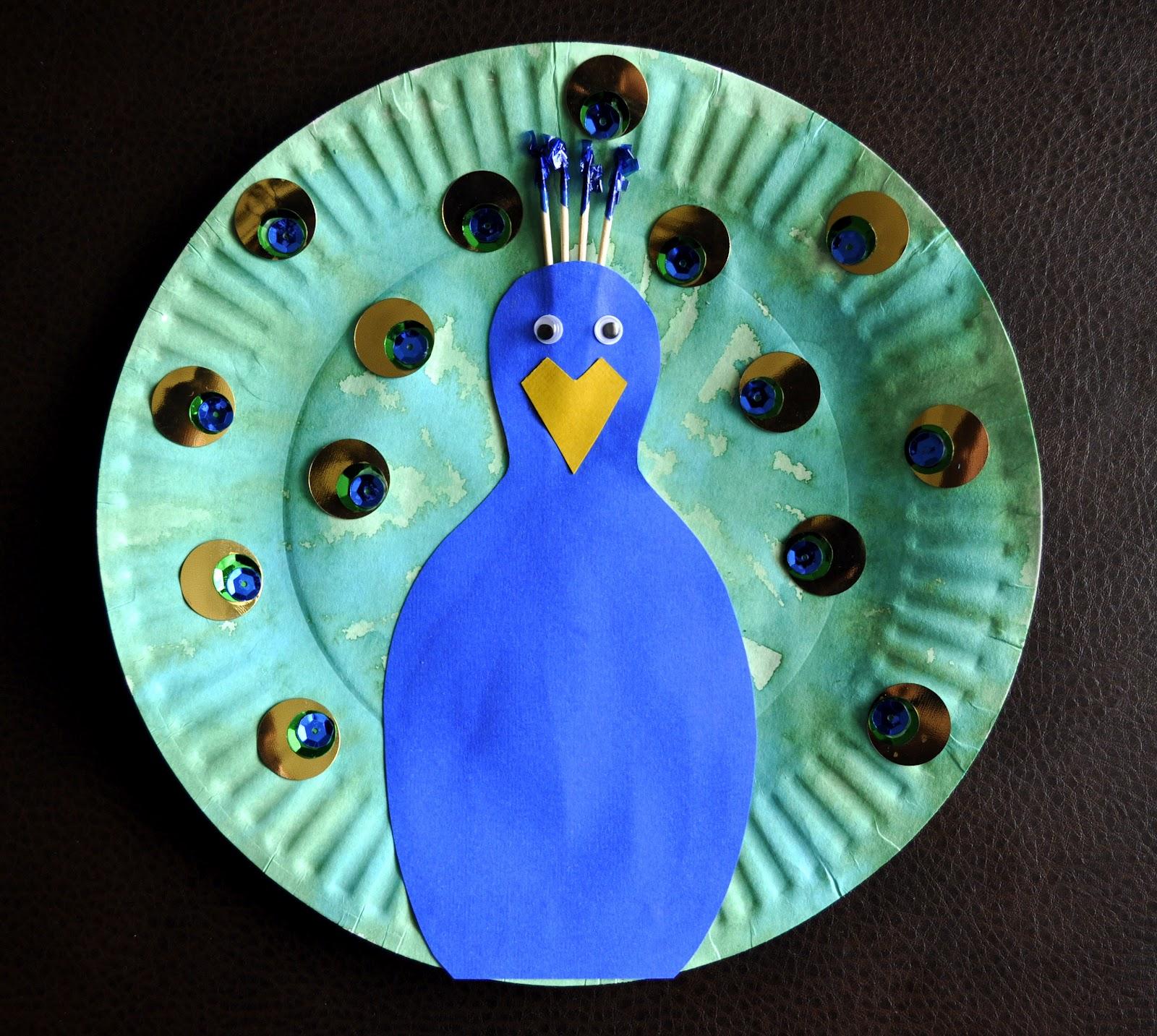 Поделка птица из бумажной тарелки