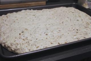 Dough for seeded focaccia