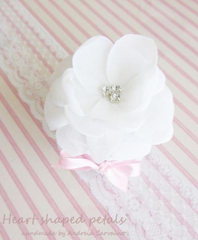 Fabric flower for bridal hair