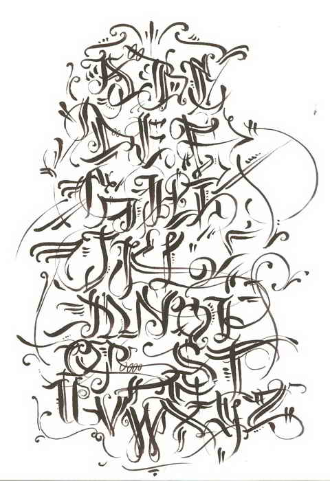 Hopes Calligraphy Graffiti Fonts The Letters Are Very Nice And Creative Alphabet Got A Solid Quality From Beginning To End Complete Work