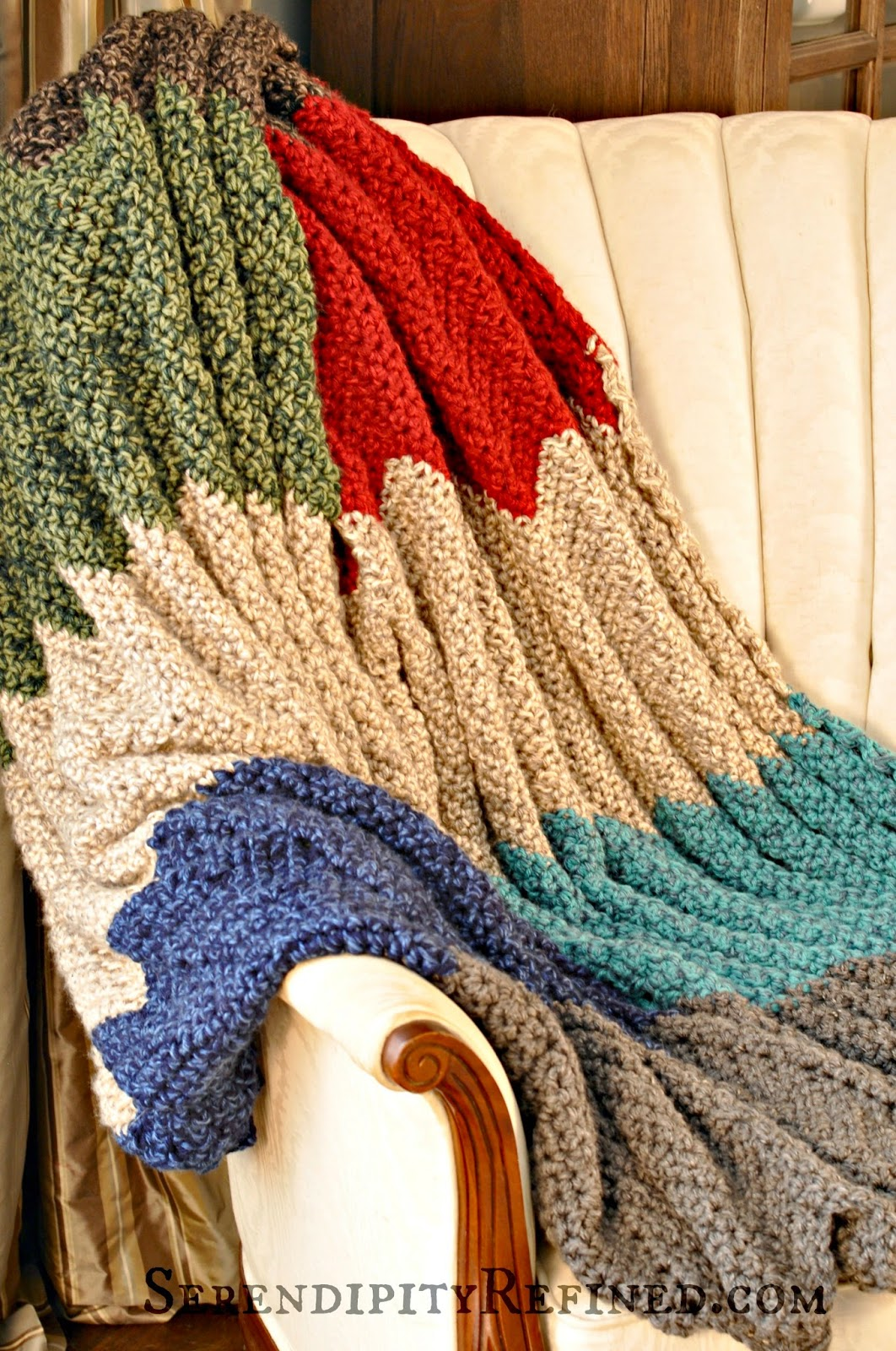 Serendipity refined blog easy crochet throw blanket pattern directions bankloansurffo Images
