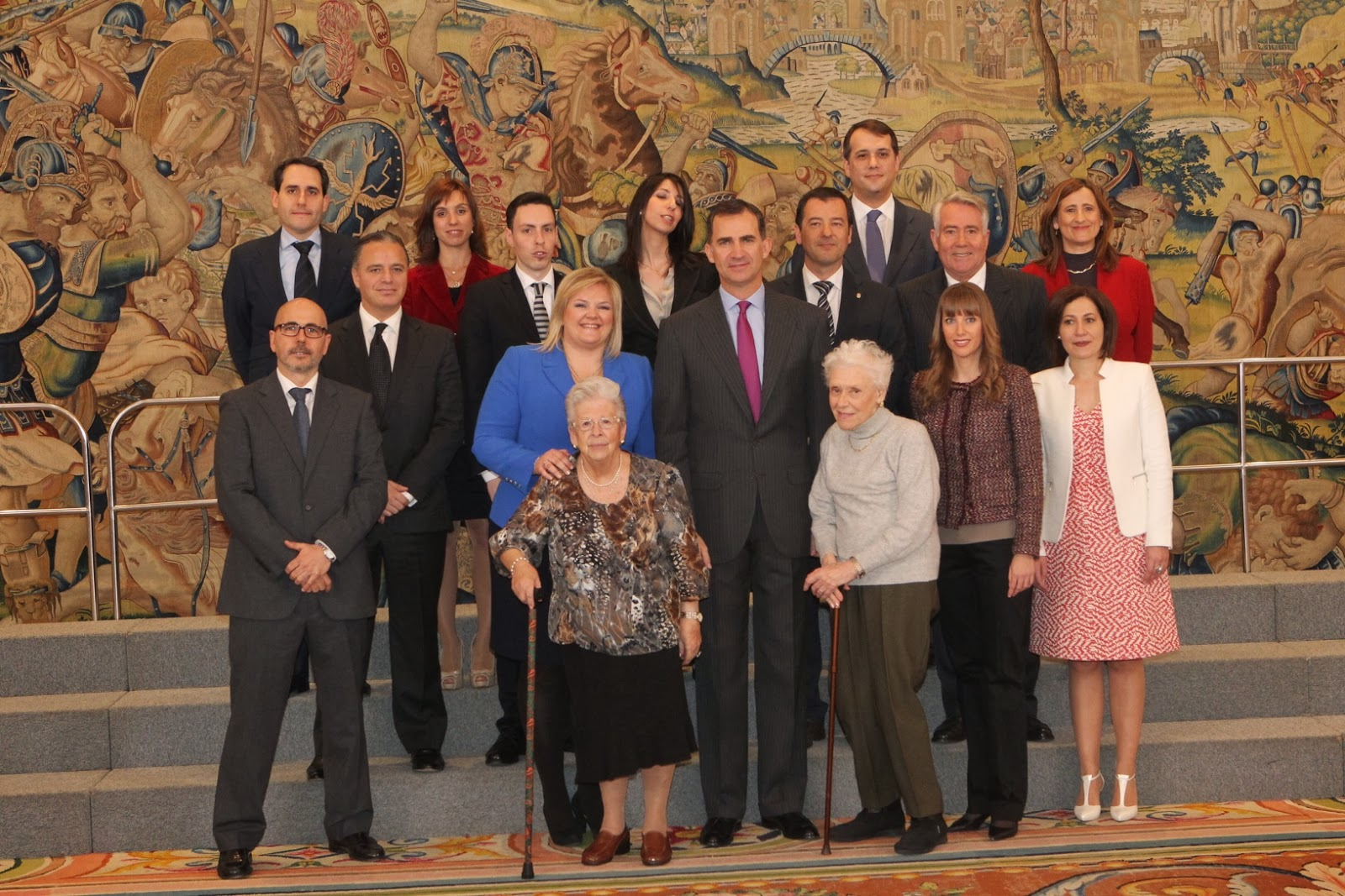 S.A.R. el Príncipe Don Felipe ha recibido a una representación de la Fundación Catalina Hoffmann y el Grupo Vitalia, Vitalia Alcalá de Henares, Mónica López Bordón